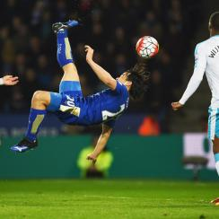 Leicester City's Shinji Okazaki scored on this bicycle kick vs. Newcastle