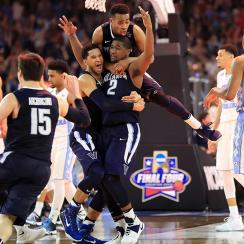 kris jenkins villanova game winner fan video unc villanova