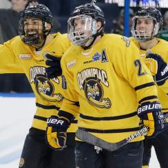 frozen four quinnipiac defeats boston college advances national championship