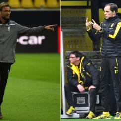 Jurgen Klopp and Thomas Tuchel square off when Liverpool meets Dortmund in the Europa League