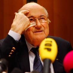Sepp Blatter spoke at a panel regarding FIFA reform at the University of Basel