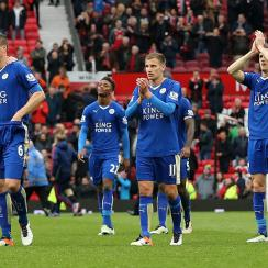 Leicester City played Manchester United to a 1-1 draw
