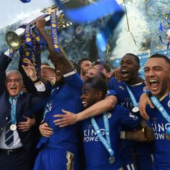 Leicester City wins the 2015-16 Premier League championship