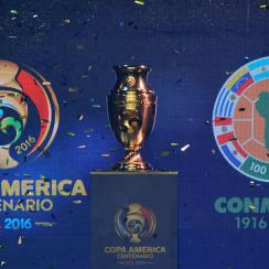 The Copa America Centenario Trophy