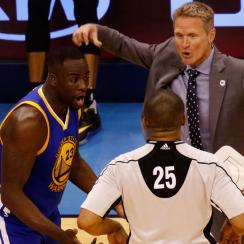 draymond green golden state warriors groin kick suspension thunder