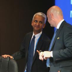 U.S. Soccer president Sunil Gulati and FIFA president Gianni Infantino