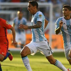 Angel Di Maria scores for Argentina vs. Chile