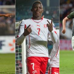Kingsley Coman, Breel Embolo and Julian Draxler are players on the rise at Euro 2016