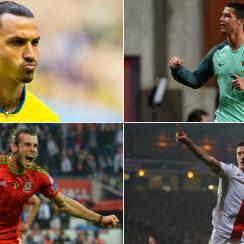 Zlatan Ibrahimovic, Cristiano Ronaldo, Gareth Bale, Robert Lewandowski will star at Euro 2016