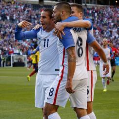 Clint Dempsey celebrates his goal for the USA vs. Ecuador in the Copa America quarterfinals