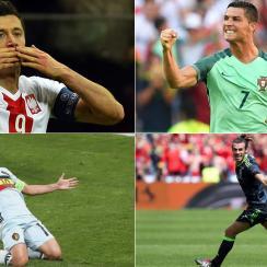 Robert Lewandowski, Cristiano Ronaldo, Eden Hazard and Gareth Bale lead their teams in the Euro 2016 quarterfinals