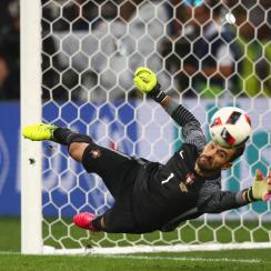 Rui Patricio makes the key save in penalties to send Portugal through to the Euro 2016 semifinals