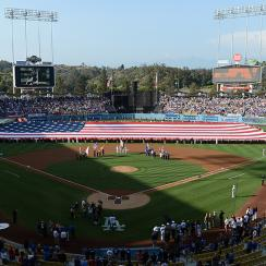dodgers vin scully star spangled banner story video