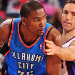 Kevin Durant and Steve Nash