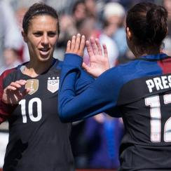 Carli Lloyd and Christen Press will help lead the USA women's soccer team at the Olympics