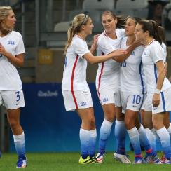 The USA took care of New Zealand in their Olympic women's soccer opener