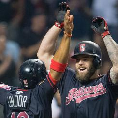 Francisco Lindor and Mike Napoli, Cleveland Indians