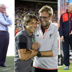 Jose Mourinho, Claudio Ranieri, Antonio Conte, Jurgen Klopp, Arsene Wenger and Pep Guardiola all manage in the Premier League