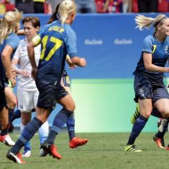 Sweden beats the U.S. women's national team in the Olympics quarterfinals