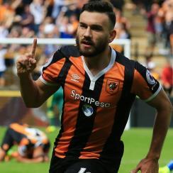 Robert Snodgrass scores a go-ahead goal for Hull City against Leicester City