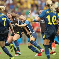 Sweden beats Brazil in penalty kicks to reach the gold medal game