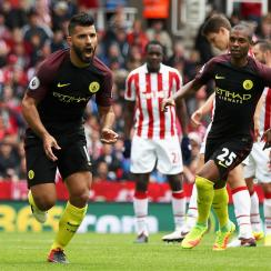 Sergio Aguero, Nolito score twice in Manchester City's win over Stoke City