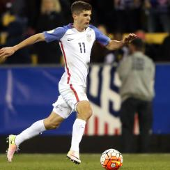 Christian Pulisic scored two goals for the USA vs. St. Vincent and the Grenadines