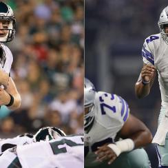Carson Wentz, Dak Prescott start at QB for Philadelphia Eagles, Dallas Cowboys