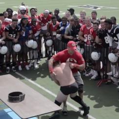 texas tech football coaches wwe wrestling match video