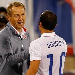 Jurgen Klinsmann and Landon Donovan have a checkered history