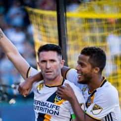 Robbie Keane scores in his return to the LA Galaxy