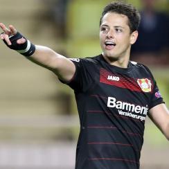 Chicharito scores a big goal for Bayer Leverkusen at Monaco in the Champions League