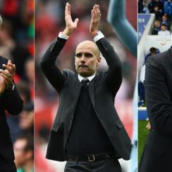 Jose Mourinho, Pep Guardiola and Antonio Conte are off to differing starts to the Premier League season