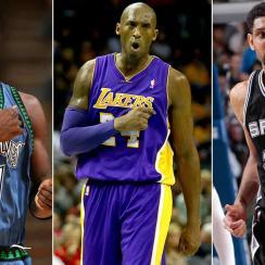 Kevin Garnett, Kobe Bryant, Tim Duncan