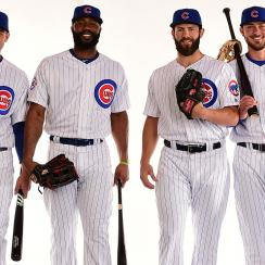Anthony Rizzo, Jason Hewyard, Jake Arrieta, Kris Bryant, Chicago Cubs