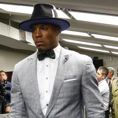 cam newton walks out press conference