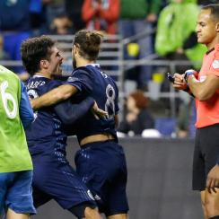 Benny Feilhaber was heated in Sporting Kansas City's loss to the Seattle Sounders in the MLS playoffs