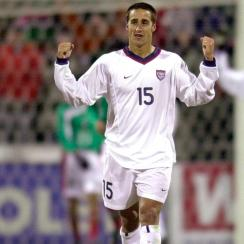Josh Wolff scored the opening goal in the USA's 2-0 win over Mexico in 2001