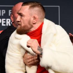 Conor McGregor, Eddie Alvarez fight at press conference