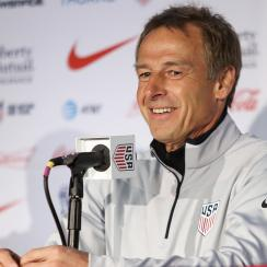 USA manager Jurgen Klinsmann leads the Americans against Costa Rica