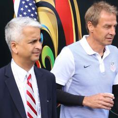 U.S. Soccer president Sunil Gulati and USMNT manager Jurgen Klinsmann