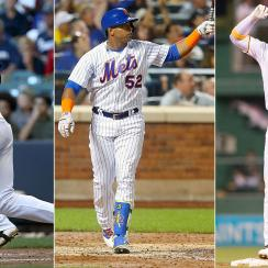 Ryan Braun, Milwaukee Brewers; Yoenis Cespedes, New York Mets; Andrew McCutchen, Pittsburgh Pirates