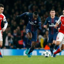 Arsenal and PSG draw 2-2 in the Champions League