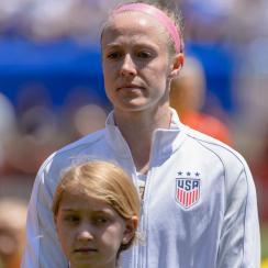 Becky Sauerbrunn is co-captain of the US women's national team