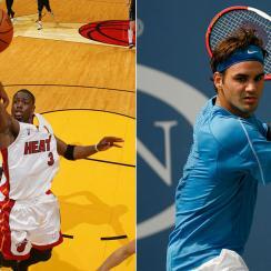 Dwyane Wade, Miami Heat; Roger Federer