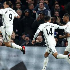 Zlatan Ibrahimovic scores the winner for Manchester United at Crystal Palace