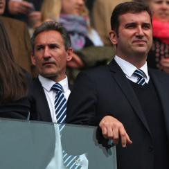 Manchester City executives Txiki Begiristain and Ferran Soriano