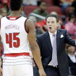 Donovan Mitchell and Rick Pitino, Louisville Cardinals