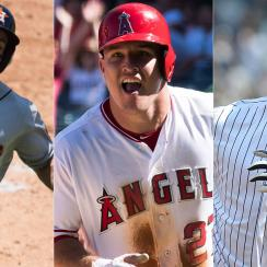 Jose Altuve, Houston Astros; Mike Trout, Los Angeles Angels; Aaron Judge, New York Yankees