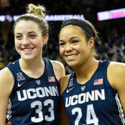 Katie Lou Samuelson and Napheesa Collier, Connecticut Huskies